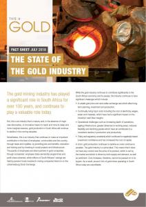 The state of the gold industry